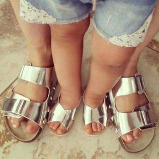 Mother and daugther sandals