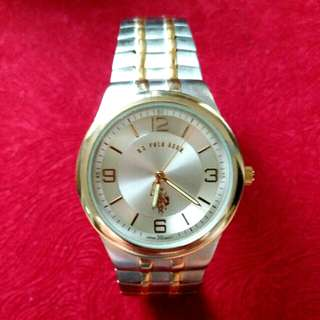 BRAND NEW AUTHENTIC US POLO TWO TONE WATCH