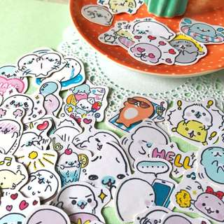 Baby Seal Scrapbook / Planner Stickers #43