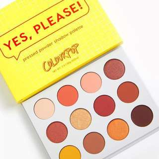Yes Please! Colourpop pressed eyeshadow palette