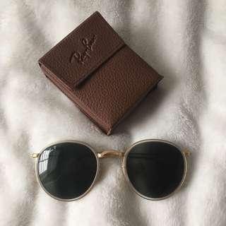 RayBan Gold Round Sunglasses