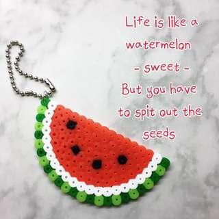 Handmade Keychains (Fruits - Watermelon & Lemon)