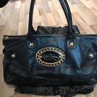 Betsey Johnson Black leather bag