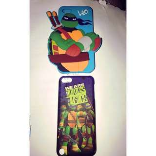 Two blue and purple TMNT iPhone cases for iPod nothing is wrong (mint condition)