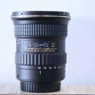 Tokina 11-16mm  canon mount