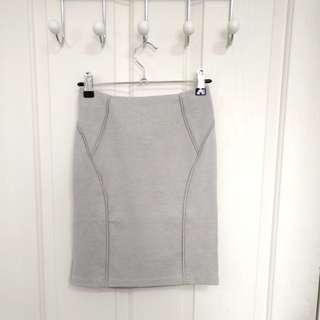 ATMOS&HERE Grey Mini Skirt - Size 6