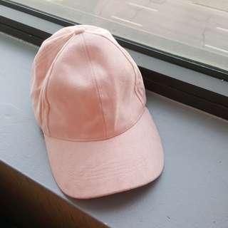 Pink Suede Hat