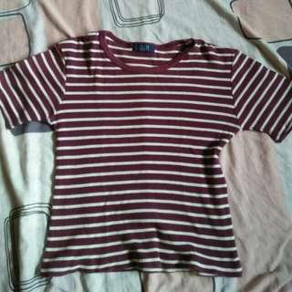 Maroon Stripe top