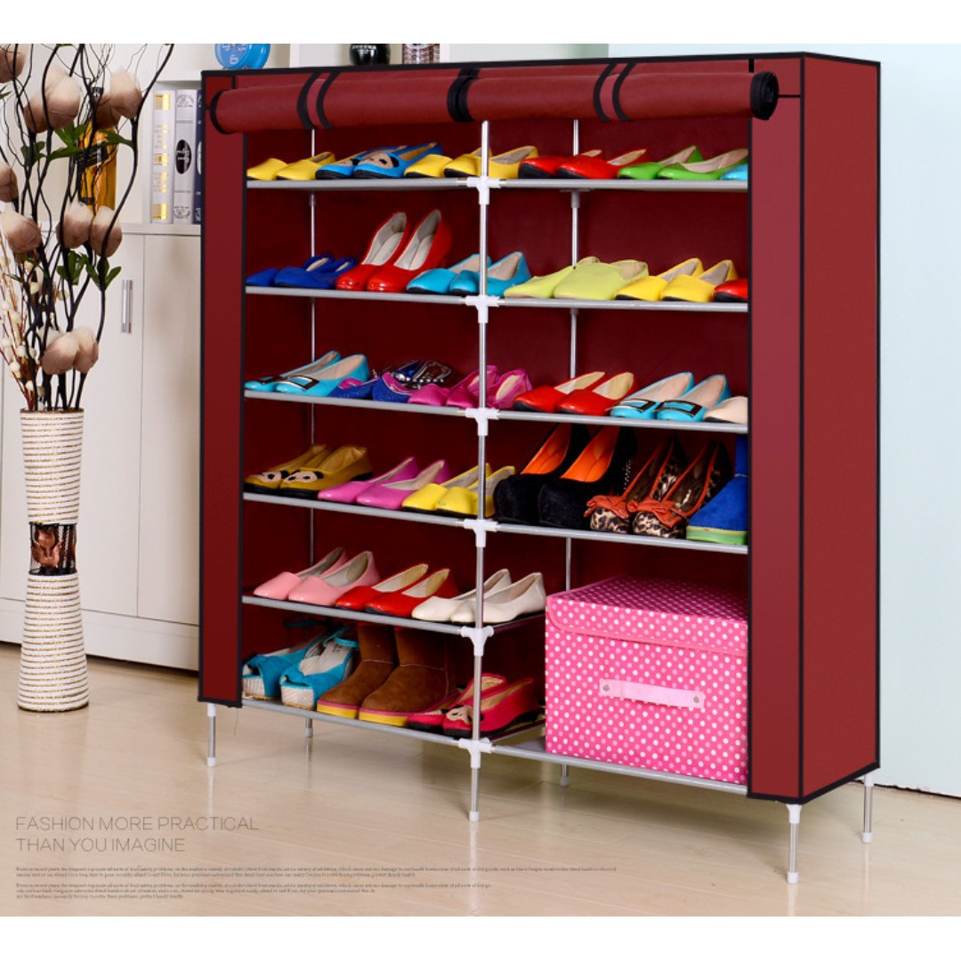 13 Tier Shoe Rack / Organizer Space Saving Storage Shelvings/ Easyhome.sg,  Home U0026 Furniture, Furniture, Others On Carousell
