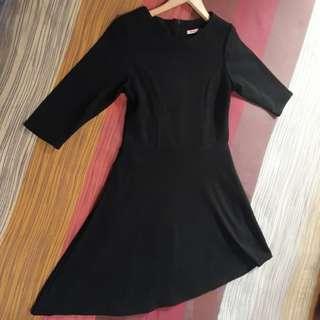 Dress Black (Full hitam polos ) N&M