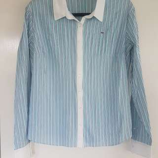 Lacoste womens striped shirt | size 14