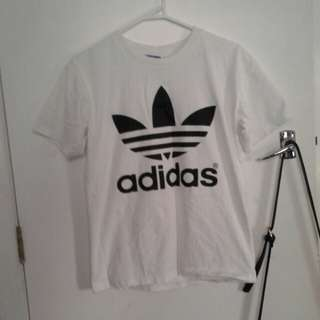 White Adidas top