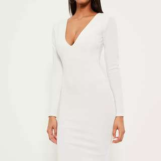 Missguided white bodycon midi dress