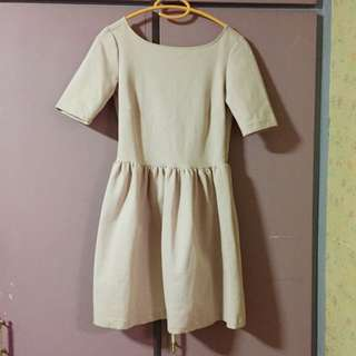 Zara trf blush dress