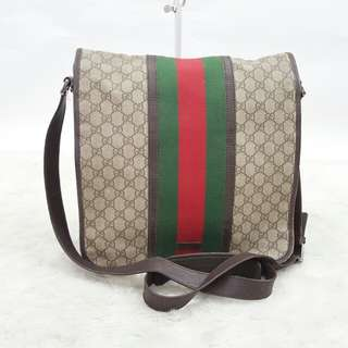 Authentic Gucci Monogram Mesengger Bag