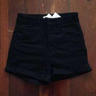 Black high waisted H&M shorts