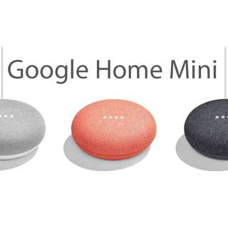 [READY STOCK!] Google Home Mini - Black/Charcoal, White/Chalk,  Red/Coral