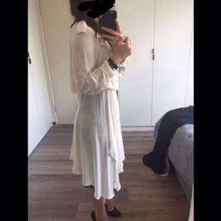 Ivory sheer trench coat size 8-10 from USA