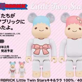 MEDICOM TOY BE@RBRICK -  Little Twin Stars 100% & 400 % & BE@RBRICK
