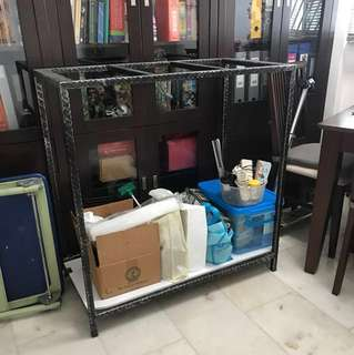 3f fish tank wrought iron stand L38in x W20in x H40in for sell (location Bukit Batok 650524)