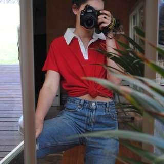 red polo shirt collard