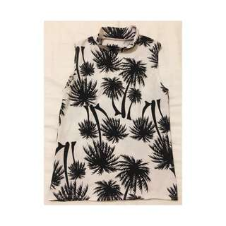 Palm Tree Print Top