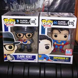 (ON HAND) Superman Clark Kent DC Super Heroes Funko Pop Bundle