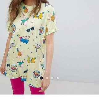 Bershka LA print T shirt Small