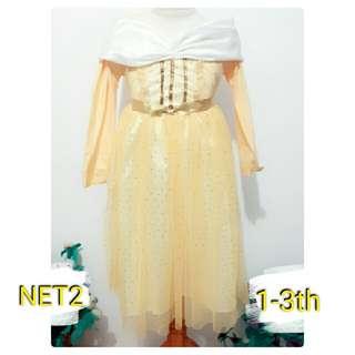 baju kostum costume princess beauty n the beast kuning tutu keren lucu