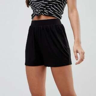 Black culott shorts