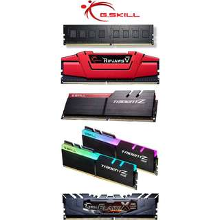 Gskill G.Skill NT / Ripjaws V / Trident Z / Trident Z RGB Performance DDR4 Memory RAMs