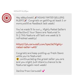 Hey!!😍 For 6th Time  Feedback from Carousell!!💯✔ Thank You So Much😙❤