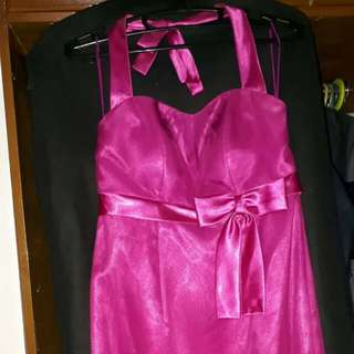 Used Gown fuschia pink