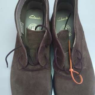 (Reduce Price) Clarks Kenley Mid Mushroom Suede (Boots)