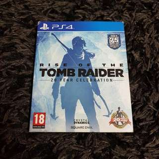 Rise of Tomb Raider - Deluxe/Book edition PS4