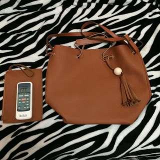 Korean Handbag with Shoulder Strap