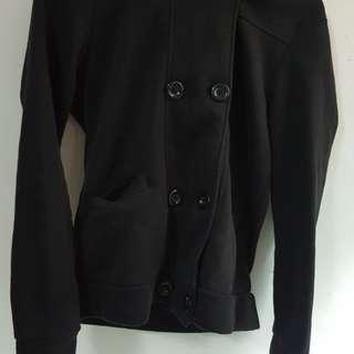 雙排扣黑外套尺寸F #外套特賣