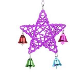 Twinkle Twinkle Jingle RATTAN STAR - Parrot hanging chew toy OR Christmas ornament