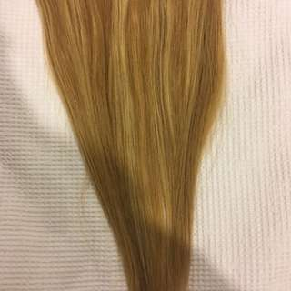 Halo hair extensions- blonde
