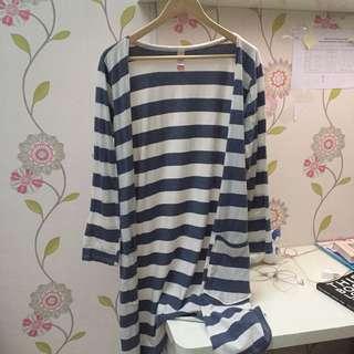 stripe long cardigan // local brand