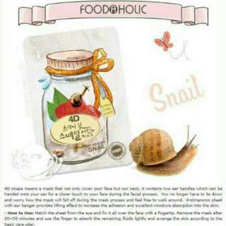 FOODAHOLIC 4D MASK (SNAIL)