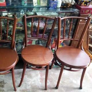Antique Vintage Brentwood Coffee Shop Chair Kopitiam Solid Wood
