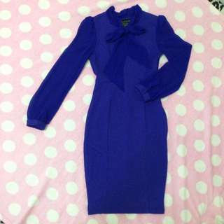 Divalicious Long Sleeve Blue Dress
