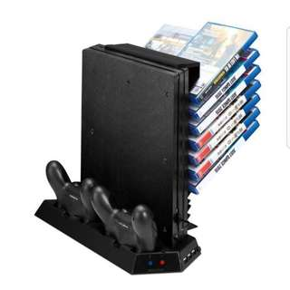 PS4 Pro all in 1 stand charging dock stand and disc storage holder