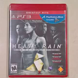 Heavy Rain: Director's Cut (Greatest Hits) (PS3) (Brand New Sealed)