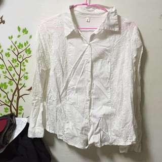 降價👇蕾絲白襯衫