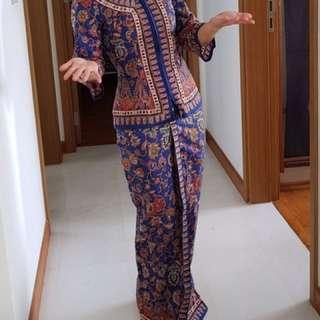 Sarong Kebaya Top for Costumed Dinners, Parties and Hallowe'en!! (used)