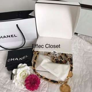 Authentic Chanel Party Belt in black