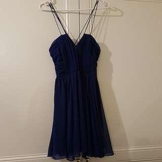 Dazzling blue dress