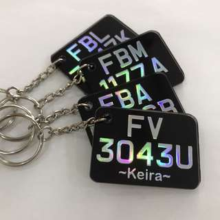 Customised Bike Plate Keychain